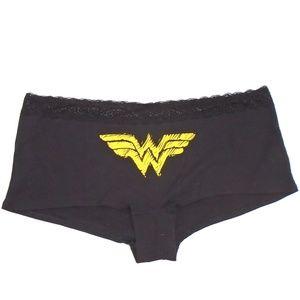 Torrid Wonder Woman BoyShort Panty NWT Lace Trim